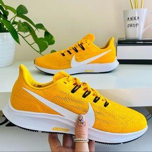 New Nike Air Zoom Pegasus 36 gold sneakers